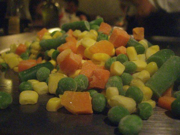 congelar e branquear legumes