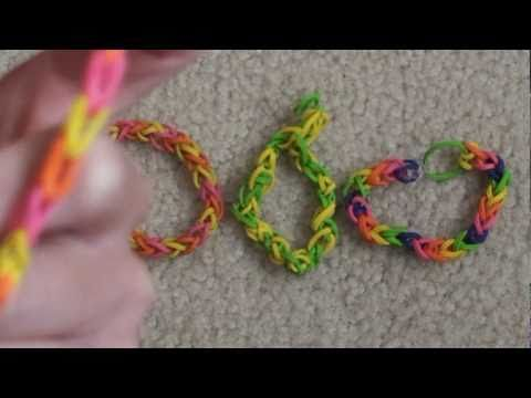 """▶ Lesson 1: How to make a """"Single"""" rubber band bracelet - YouTube"""
