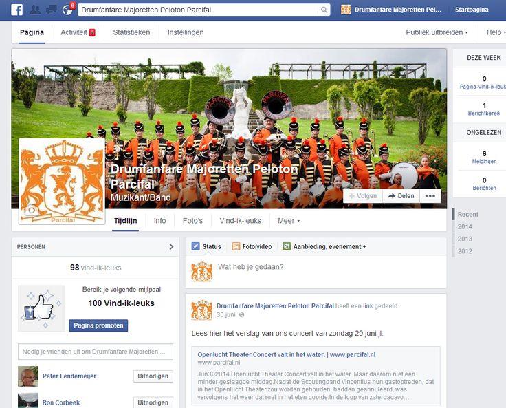 Facebook pagina Parcifal.