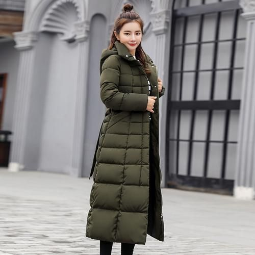 2018 New Fashion X-long Winter Coat Women Large Fur Collar Down Jacket Women Slim Parka Female Plus Size Thickening Coats Ladies 2
