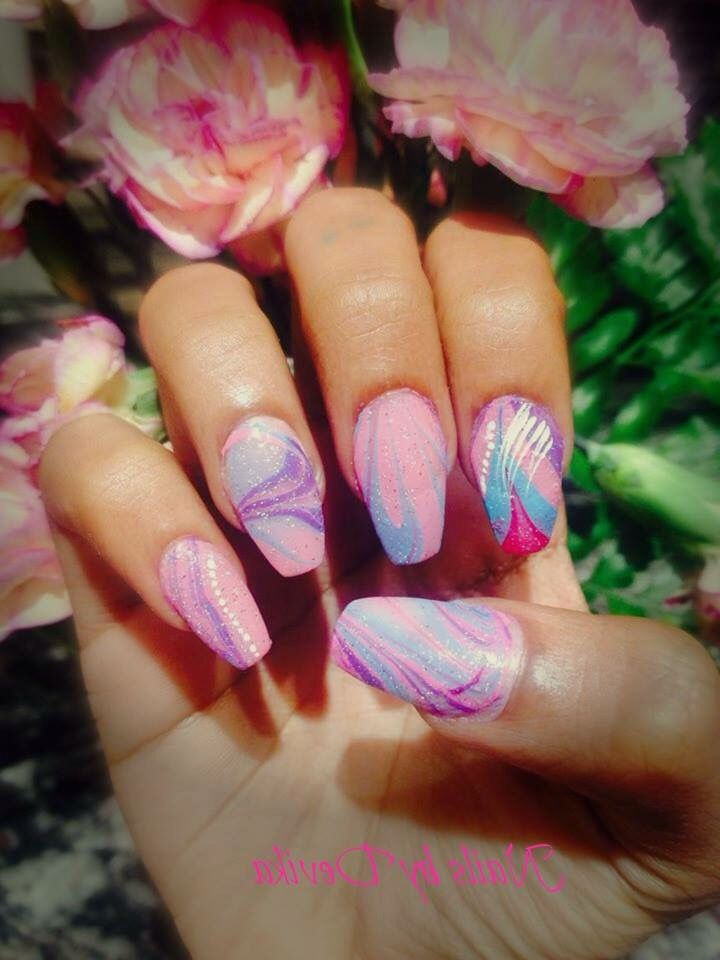 10 best nail art done by myself devika images on pinterest nail nails by devika first water marble nail art ive ever tried solutioingenieria Gallery