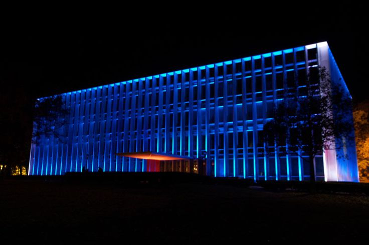 architectural lighting design - hunt library, carnegie mellon