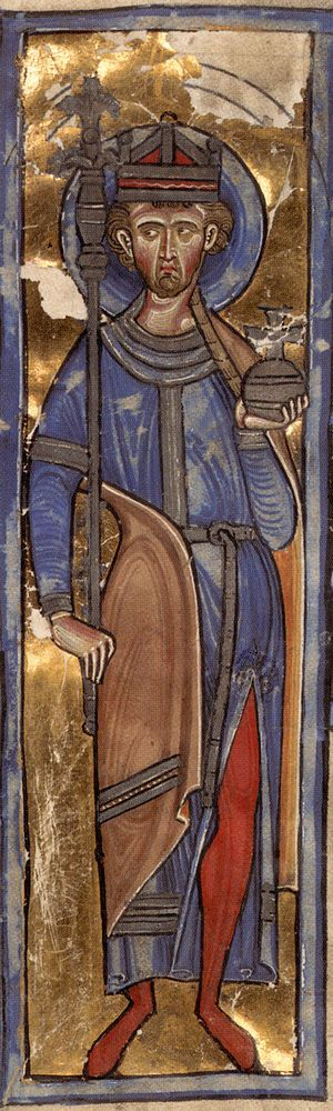 St Oswald, crowned as a king. King Oswald of N...