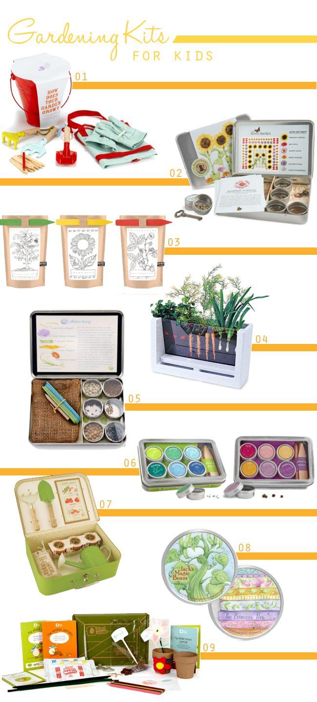 A lovely lark 9 cute gardening kits for kids spring has for Gardening kit for toddlers