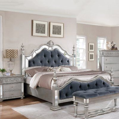 Rosdorf Park Kenton Standard 5 Piece Bedroom Set Wayfair Glam Bedroom Decor Bedroom Set Sophisticated Bedroom