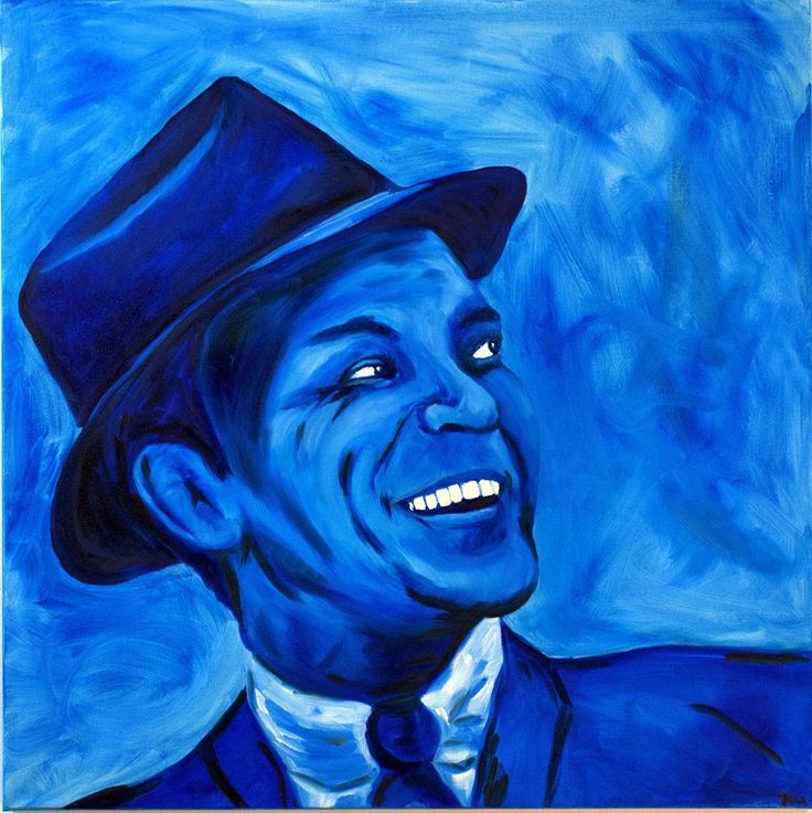 """Hand painted oil on canvas. Called """"Blue Eyed Frank"""". By: Katherine Granger"""