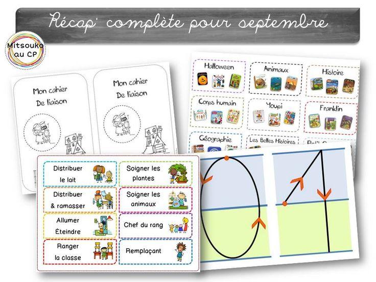 Récapitulatif pour le mois de septembre pour aborder la rentrée, l'alphabet et l'automne. Tous les documents pour être organisé et préparer sa classe !