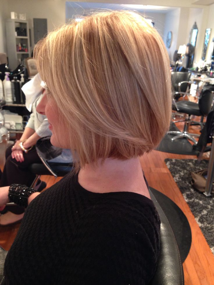 Highlight and cut!! Beautiful blond. Wanted the Kelly Ripa haircut.