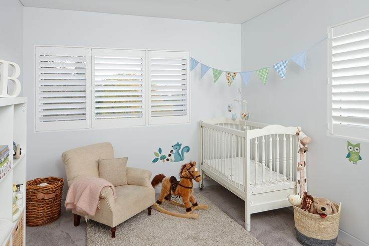 Because there are no dangling cords, Luxaflex Polyresin Shutters are a safe window covering product for children and pets. #luxaflex #shutters #polyresinshutters #childsafe #petsafe #homedecor #childsafety #blinds #windowfashions