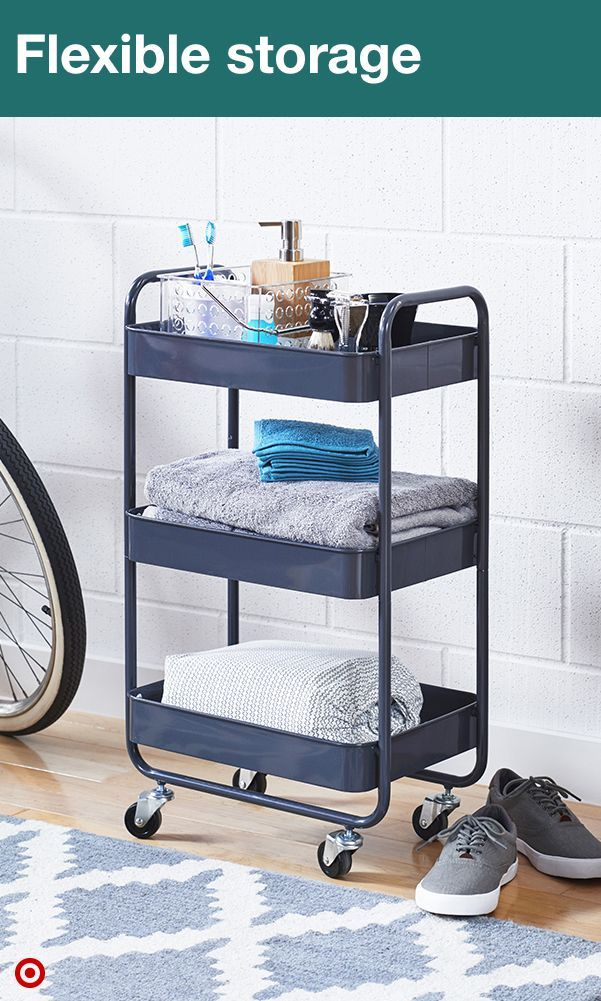 So, you overpacked for college… And now you have to fit all your favorite things into a very tiny dorm. No worries. A three-tier metal utility cart can help by adding a lot more space to your not-so-large room. Plus, it has wheels so you can easily move it out of the way when needed. Load it up with plush towels and bath goodies, food and kitchen accessories, or even your school supplies. (Because, yes, you actually might need them.)