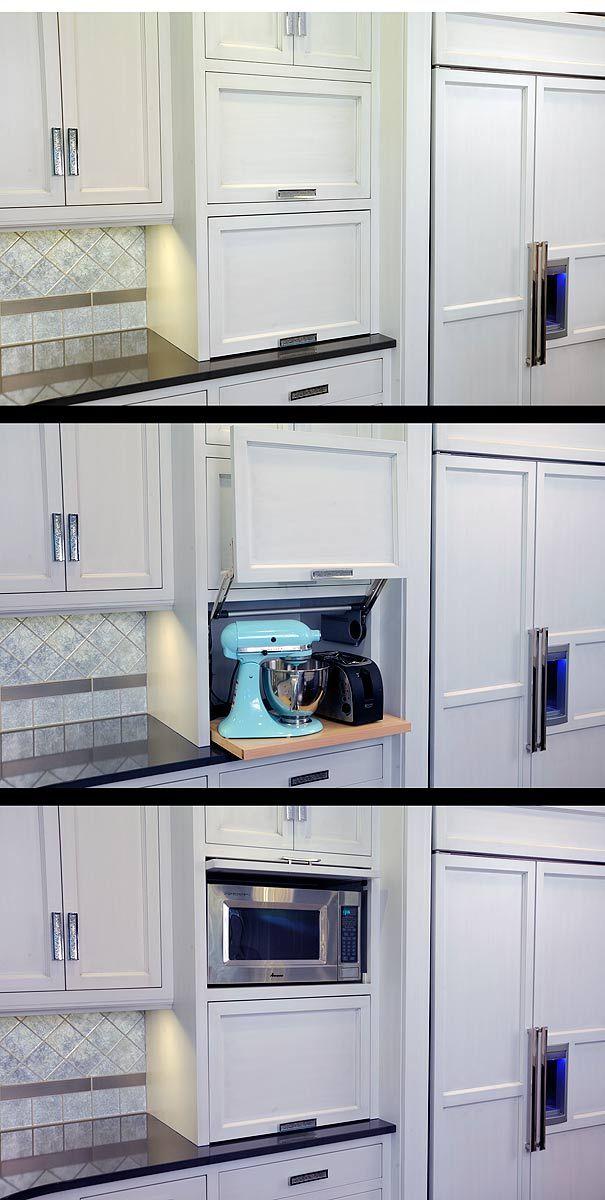 Another idea for hiding appliances. Defo want microwave hidden!