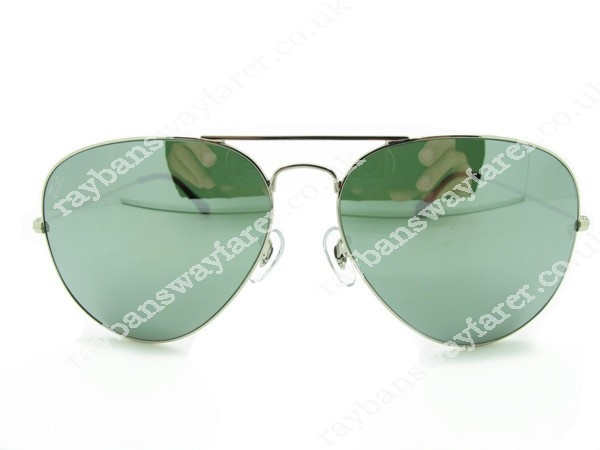 ray ban rb3026 metal green mirror glass  ray ban rb3026 w3177 mirrored green 14mm bridge metal unisex glass