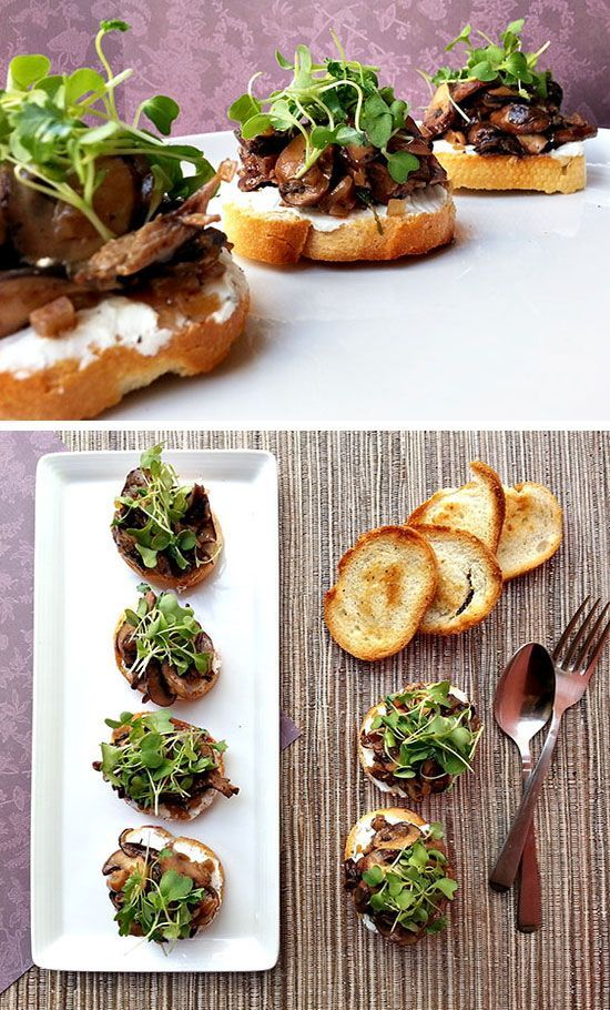 Wild Mushroom Bruschetta Click for 20 Easy Holiday Appetizer