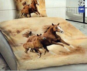 POVLEČENÍ s 3D efektem na 2 postele - KONĚ