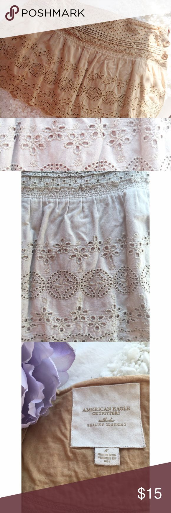"""American Eagle Beautiful Skirt * American Eagle Beautiful Skirt * Length: Approx 15"""" * Waist: Approx 17.5"""" when the skirt is laid flat.  * In great condition, worn very few times. * Accepting offers, via the offer option only. American Eagle Outfitters Skirts Mini"""