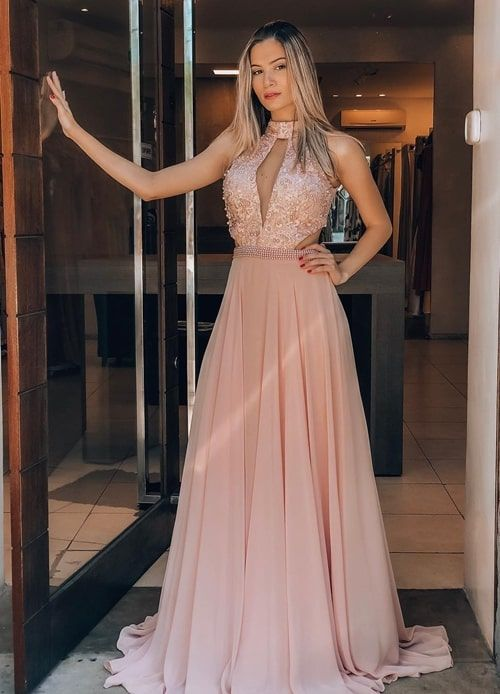 b2d8c586df8e Vestido rosa para madrinha  25 vestidos para usar em 2019