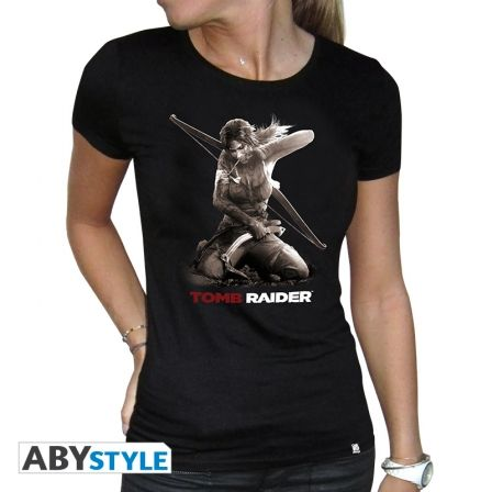 TOMB RAIDER T-shirt Tomb Raider femme Lara à genoux