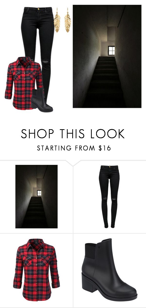 """""""She Runs Up The Stairs Looking"""" by arrowette-854 ❤ liked on Polyvore featuring J Brand, Doublju, Melissa and Amrita Singh"""