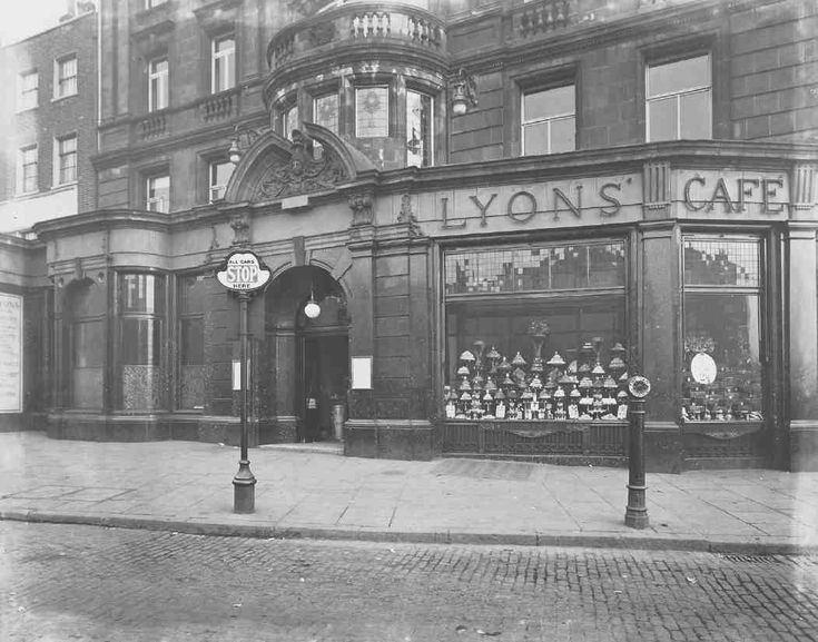 Formerly the Angel Hotel, Islington, south front c1922, refitted as Lyons' Café