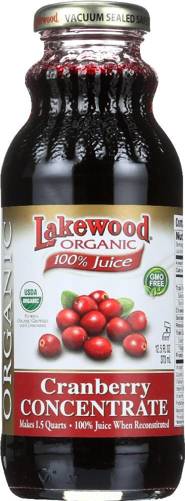 LAKEWOOD: Organic Cranberry Concentrate Juice, 12.5 oz