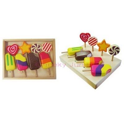 Wooden Lollipops ICY Poles Pretend Play Kitchen Food | eBay