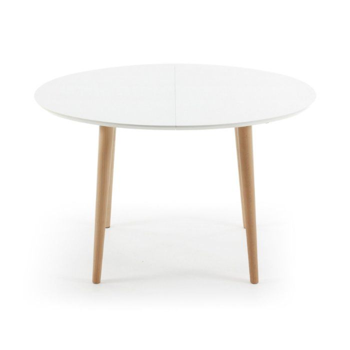 This extendable table with its elegant design is a great addition to any room. The robust table top is made of durable engineered wood and the four table legs are of solid beech wood. When not fully extended, the oval shaped table features a length of 120 centimeters. And when more space for guests are needed during a special event or dinner, the table can be extended to a total length of 200 centimeters. The subtle geometric design seamlessly integrates into any home and can be complemented…