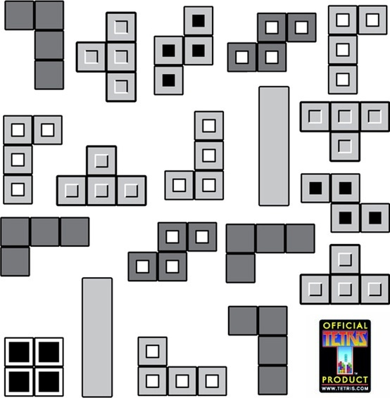 TETRIS® wall graphics from WALLS 360: by WALLS 360, via Flickr