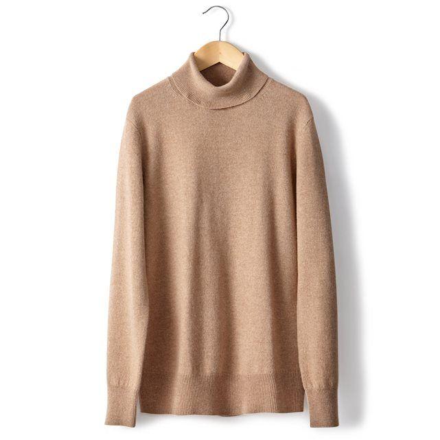Image Sweter 100% wełny kaszmirowej, z golfem, długi rękaw R essentiel