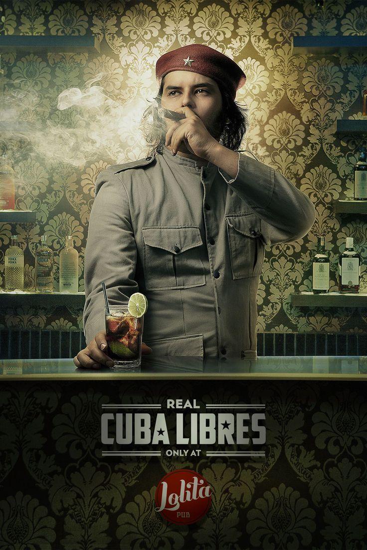Lolita Pub: Drinks, Real Cuba Libres. Agency: Propeg, Salvador, Brazil