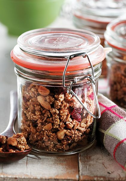 Peanut Butter Quinoa Granola | Bob's Red Mill: Peanuts, Quinoa Granola, Butter Quinoa, Breakfast, Gluten Free, Healthy Recipes, Healthy Food, Quinoa Recipes, Peanut Butter