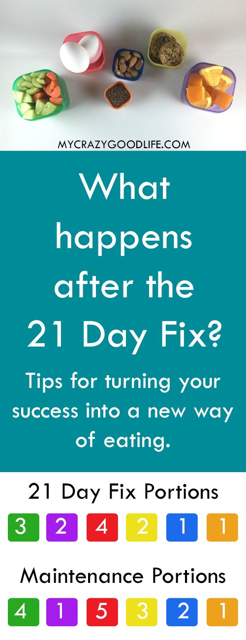 """What happens after the 21 Day Fix? It's no secret that I loved the 21 Day Fix as a sort of """"reset"""" for the way I ate... but what happens after the 21 Day Fix is over? Do you go back to your old ways, commit to another round, or try to maintain a new way of eating?"""