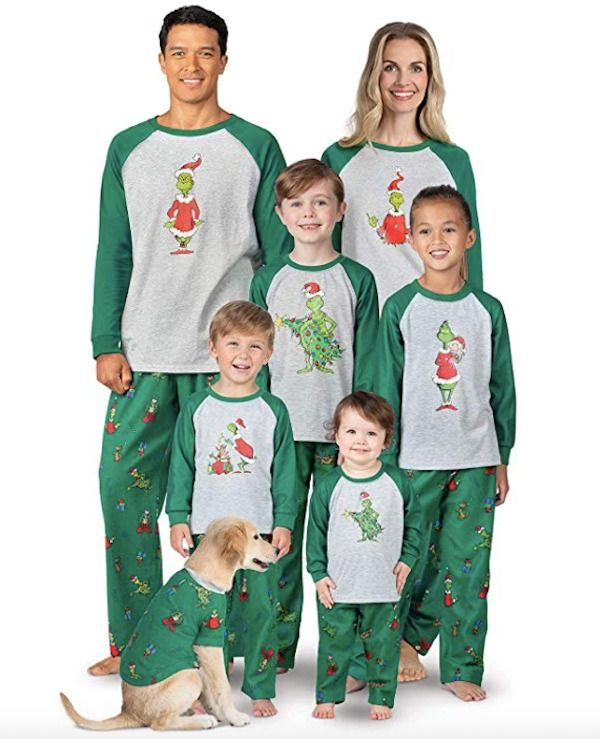 Family Matching Holiday Grinch Pajamas  70e563659