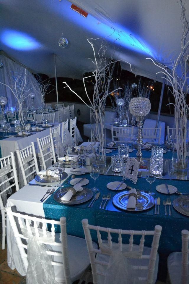 Winter Wonderland Themed dinner Winter Wonderland CenterpiecesWinter
