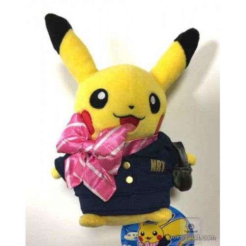 Pokemon Store Narita Airport 2015 Flight Attendant Pikachu Plush Toy