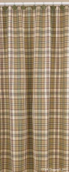 Cabin Thyme Plaid Shower Curtain