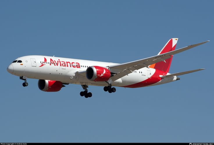 Avianca Colombia Boeing 787-8 Dreamliner (registered N791AV; photo by Andras Soos)