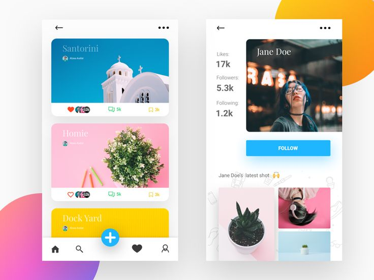 """Hello kind people, This is just my dailyUI shot. I made instagram-like app. Hope you enjoy it! Please show some love by pressing """"L"""", much appreciated! Crystal clear version : https://www.behanc..."""