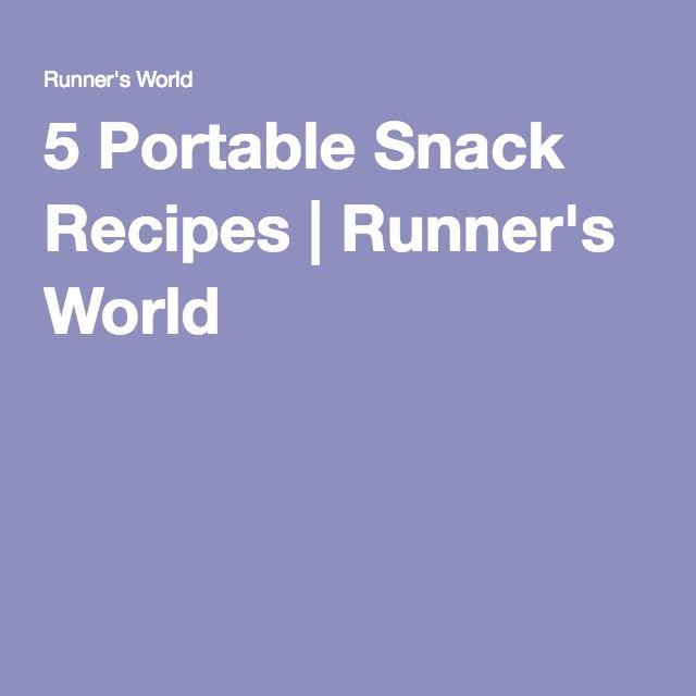 5 Portable Snack Recipes | Runner's World