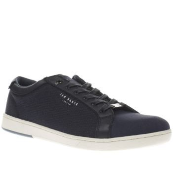 Ted Baker Navy Ternur Mens Trainers Ted Baker serve up some dapper cool for your off-duty wardrobe, as their Ternur trainer arrives. Crafted in navy fabric, the upper is adorned in a subtle black print, with a plain throat and toe. Silv http://www.MightGet.com/january-2017-13/ted-baker-navy-ternur-mens-trainers.asp