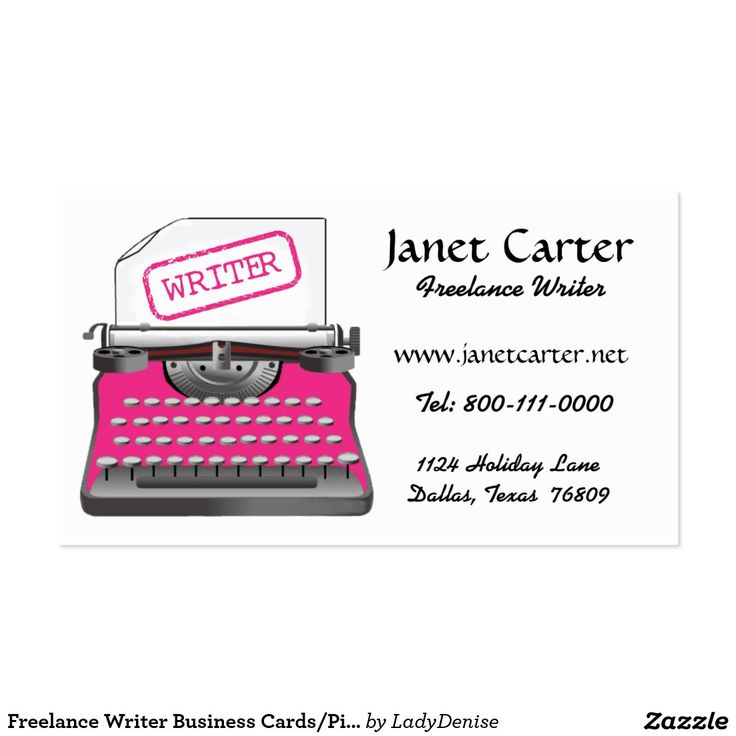 41 best Business Cards: Freelance Writer images on Pinterest ...