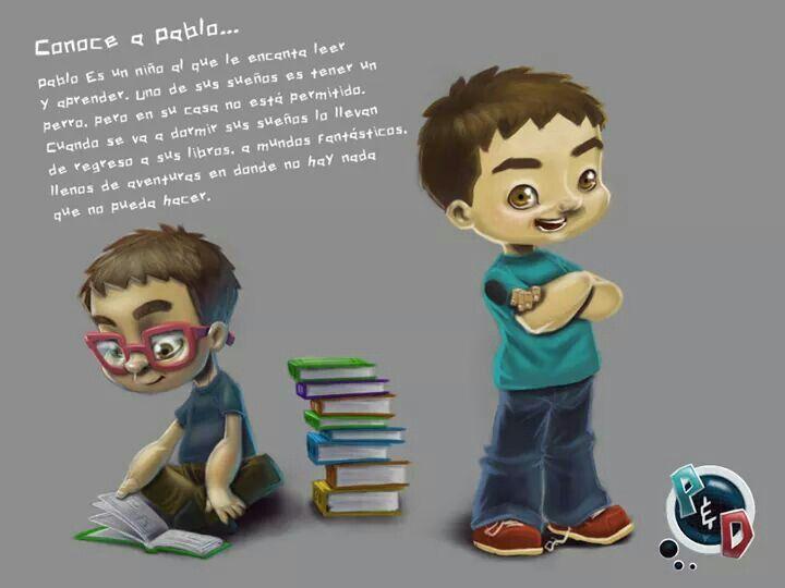 Conoce a Pablo, uno  de los personales principales de Pablo & Dash: El Cazador de Monstruos.  Recuerda ayudarle a alguien a encontrarlo, comparte.  Pablo & Dash: El Cazador de Monstruos Español: https://www.amazon.com/dp/B072PQRYC1 English: https://www.amazon.com/dp/B072PRLPGF