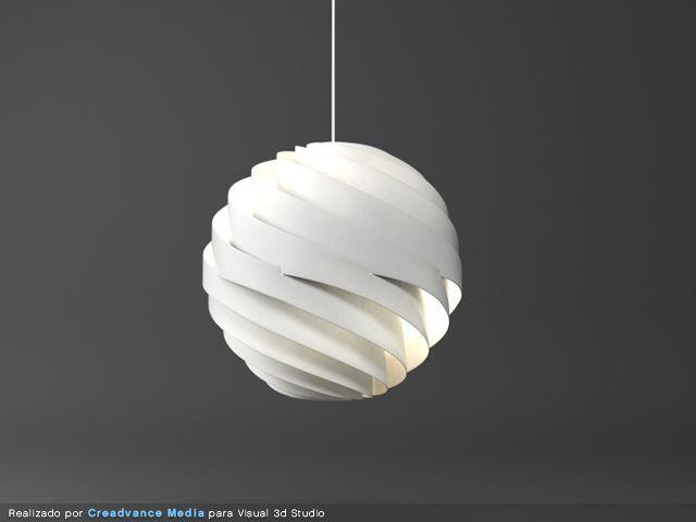 modern lamp 3d