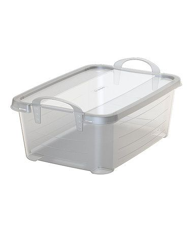 Look at this #zulilyfind! 14-Qt. Handled Stackable Storage Box - Set of Three #zulilyfinds