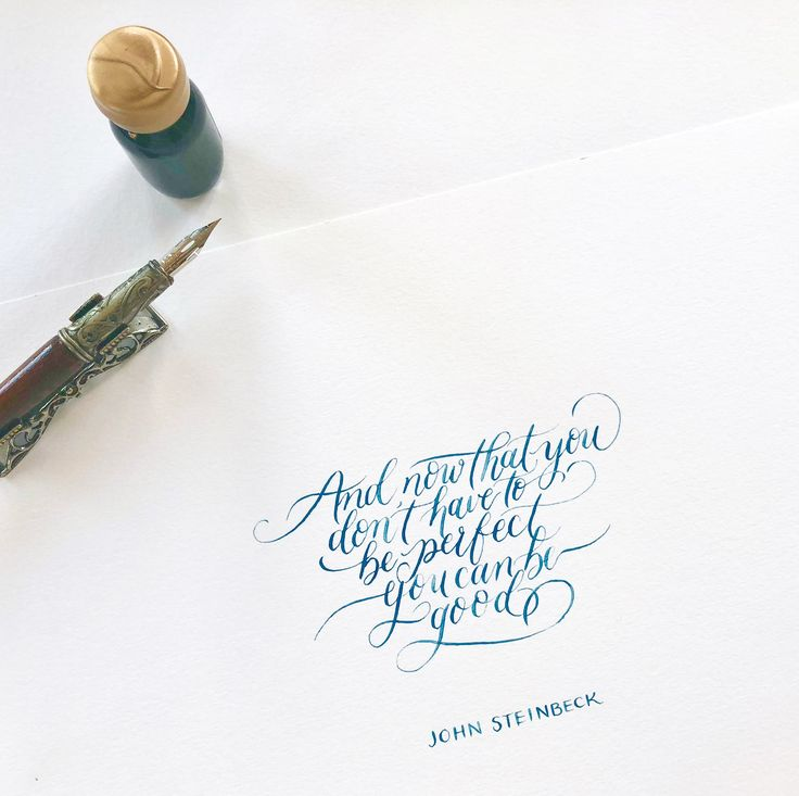 Calligraphy quote- an inspiration to be yourself