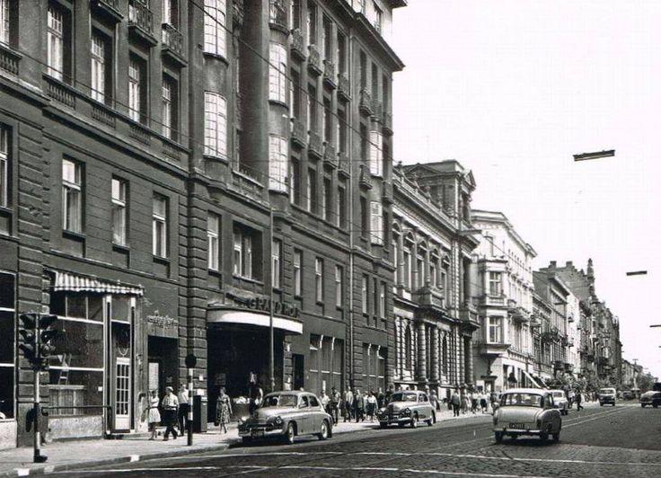 Piotrkowska Street, 1962 year, Lodz, Poland
