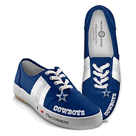 NFL-Licensed Dallas Cowboys Women's Canvas Sneakers