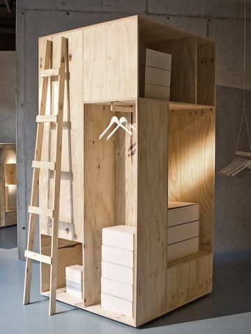 'We formed this type of wooden box construction into displays for fashion and they became more complex and labyrinthine,' Larsen recalls.