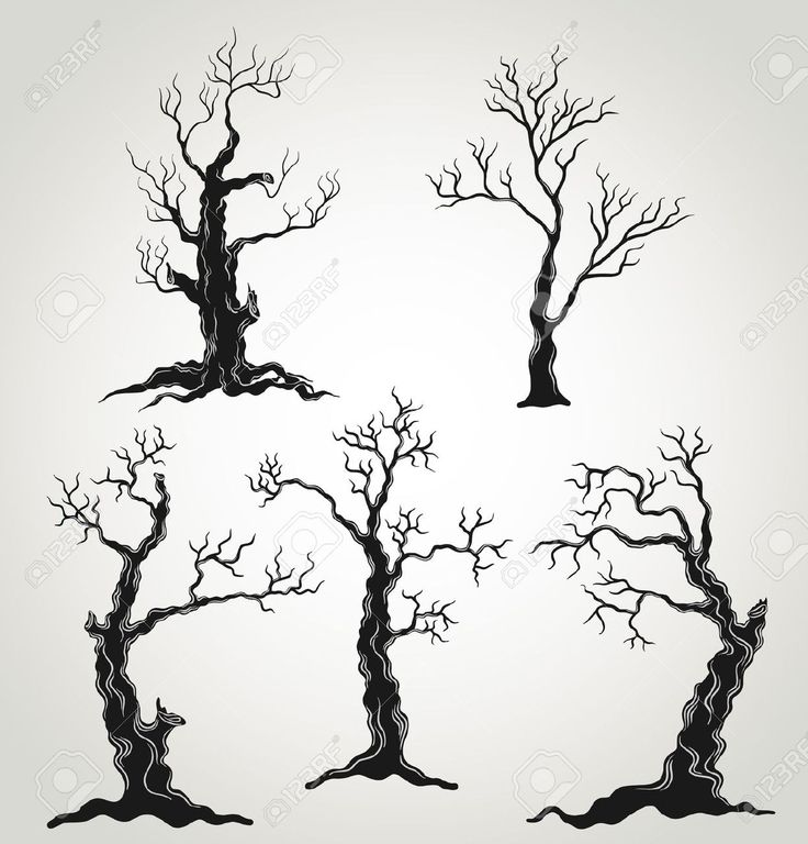 40 best halloween sillouettes images on pinterest for Creepy trees for halloween