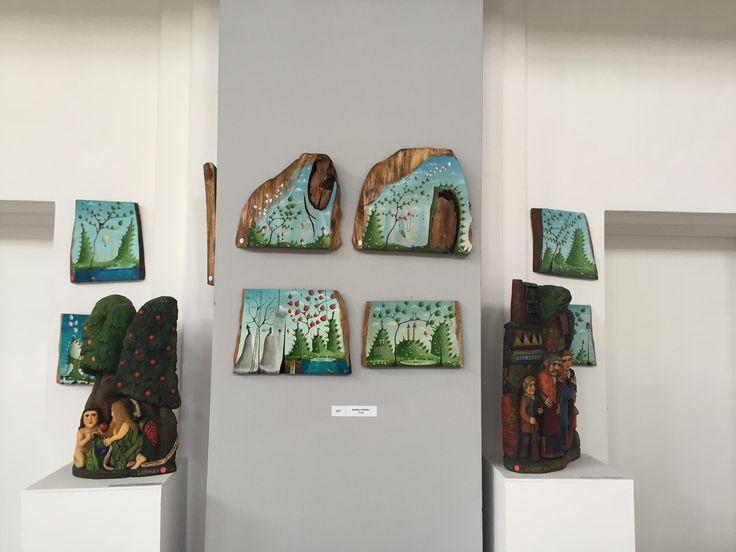 Paweł Widera oryginal paintings at Art Naif Festiwal Nikiszowiec Katowice