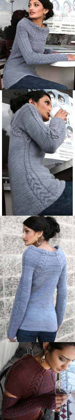 Source Susan Padilla Oh this has my name written ALL over it!!! - Silken Scabbard Knitting Pattern